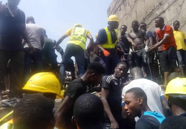 About 41 People Survive 3-Storeyed Collapse Building in Lagos
